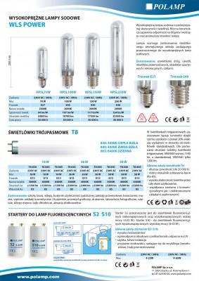 Szeroka oferta źródeł światła LED oraz oświetlenia tradycyjnego marki Polamp.