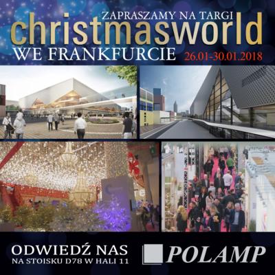Zapraszamy na targi Christmasworld 2018 !