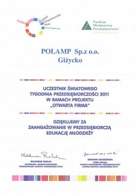 Światowy tydzień przedsiębiorczości 2011