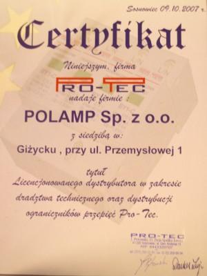 Szkolenie – PRO-TEC 16 listopad 2007 Giżycko