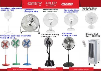 Szeroka oferta wentylatorów, cyrkulatorów i klimatyzatorów powietrza